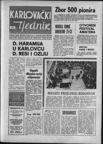 Karlovački tjednik: 1970 • 21