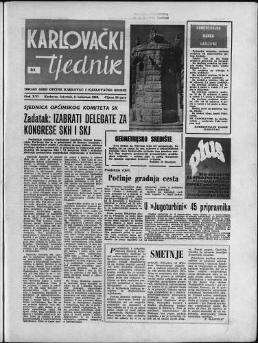 Karlovački tjednik: 1968 • 31