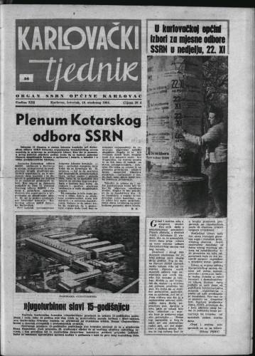 Karlovački tjednik: 1964 • 46