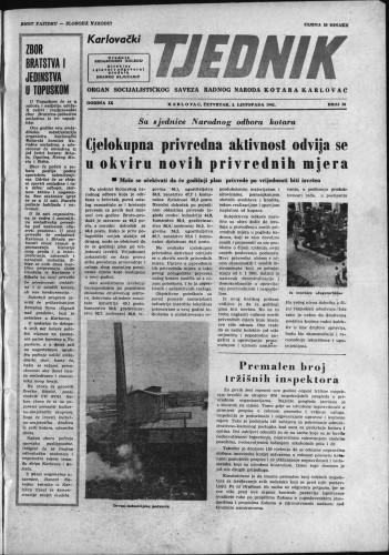 Karlovački tjednik: 1961 • 39
