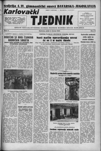 Karlovački tjednik: 1954 • 14