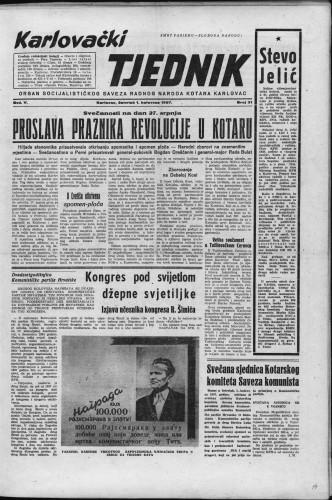 Karlovački tjednik: 1957 • 31