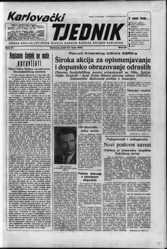 Karlovački tjednik: 1956 • 38