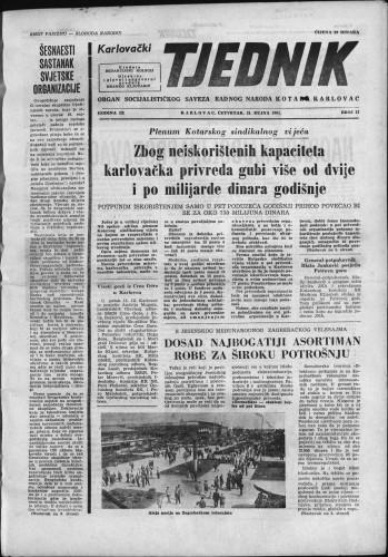 Karlovački tjednik: 1961 • 37
