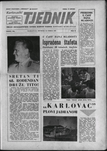 Karlovački tjednik: 1960 • 20