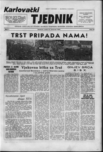 Karlovački tjednik: 1953 • 16