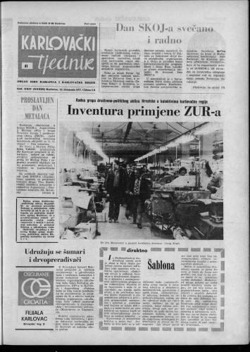 Karlovački tjednik: 1977 • 41