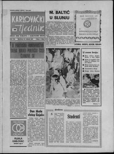 Karlovački tjednik: 1973 • 22