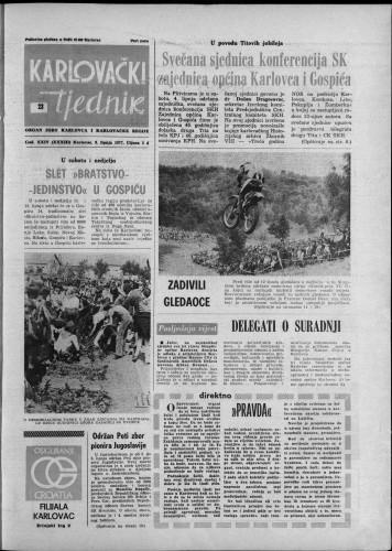 Karlovački tjednik: 1977 • 23