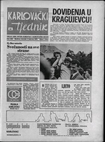 Karlovački tjednik: 1972 • 31