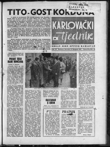 Karlovački tjednik: 1967 • 40