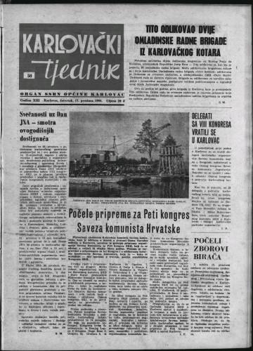 Karlovački tjednik: 1964 • 50