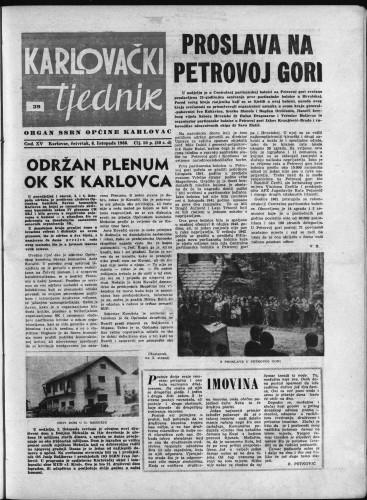 Karlovački tjednik: 1966 • 39