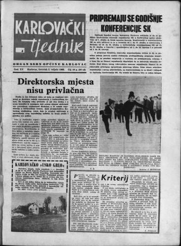Karlovački tjednik: 1966 • 4