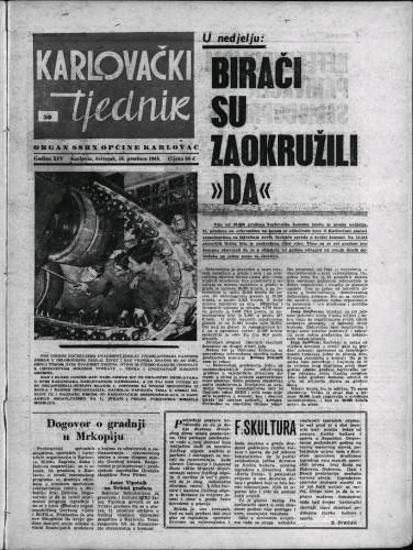 Karlovački tjednik: 1965 • 50