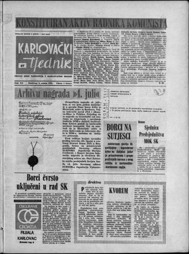 Karlovački tjednik: 1973 • 27