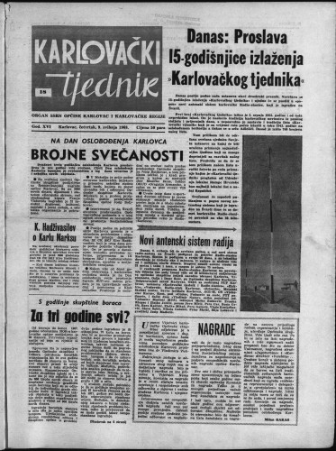 Karlovački tjednik: 1968 • 18