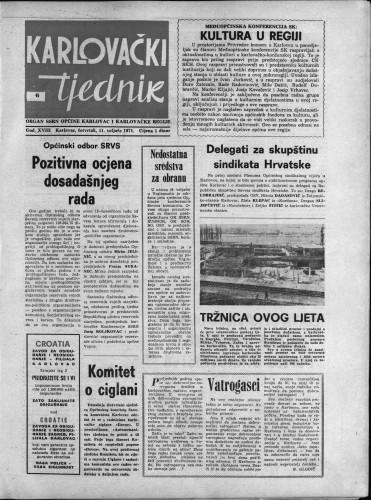 Karlovački tjednik: 1971 • 6