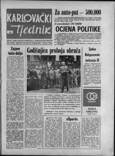 Karlovački tjednik: 1971 • 21
