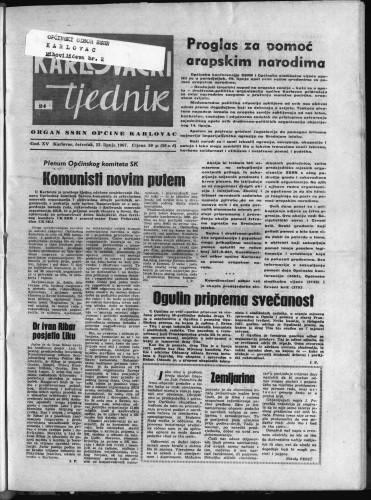 Karlovački tjednik: 1967 • 24
