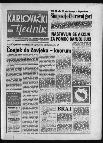 Karlovački tjednik: 1969 • 44