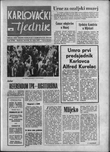 Karlovački tjednik: 1970 • 36