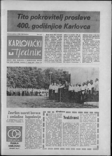 Karlovački tjednik: 1977 • 27
