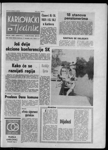 Karlovački tjednik: 1975 • 40