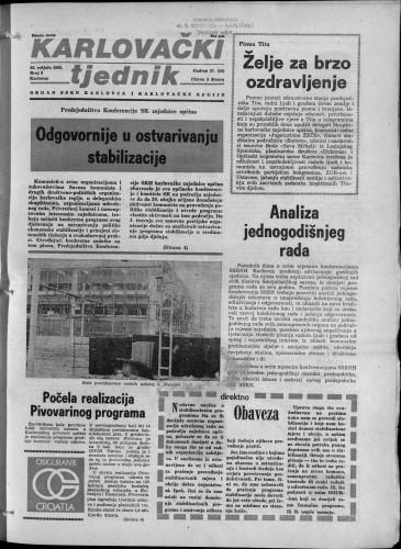 Karlovački tjednik: 1980 • 9