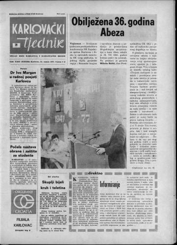 Karlovački tjednik: 1977 • 29