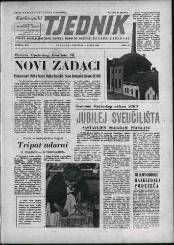 Karlovački tjednik: 1960 • 35