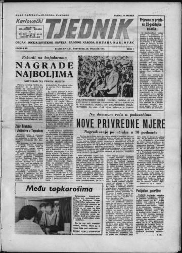 Karlovački tjednik: 1961 • 7