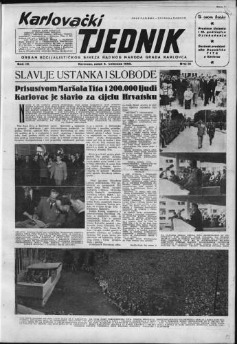 Karlovački tjednik: 1955 • 31
