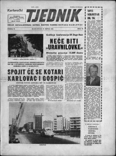 Karlovački tjednik: 1962 • 28