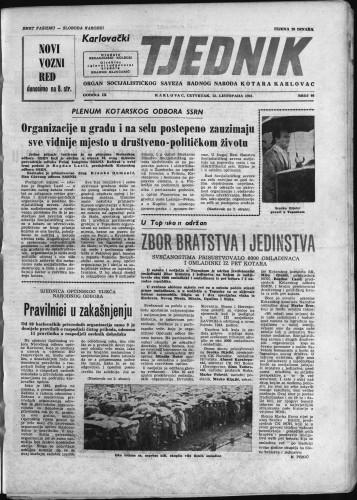 Karlovački tjednik: 1961 • 40
