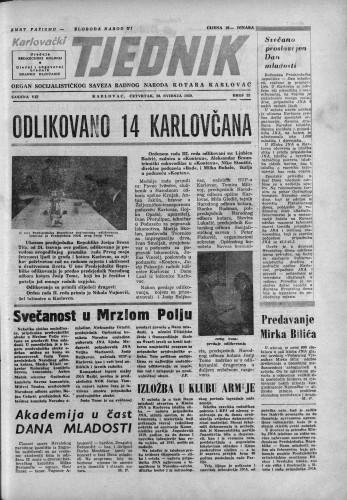 Karlovački tjednik: 1959 • 22