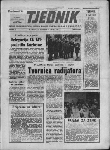 Karlovački tjednik: 1963 • 10