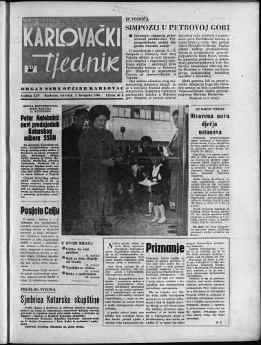 Karlovački tjednik: 1965 • 40