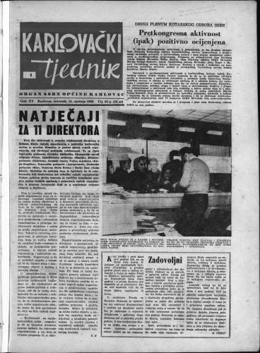 Karlovački tjednik: 1966 • 1