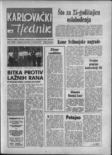 Karlovački tjednik: 1970 • 14