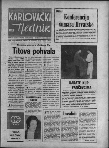 Karlovački tjednik: 1971 • 44