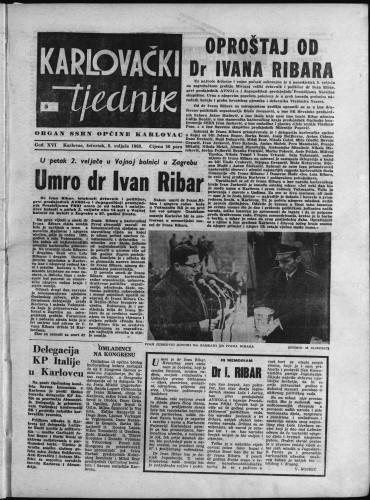 Karlovački tjednik: 1968 • 5