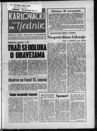 Karlovački tjednik: 1967 • 30