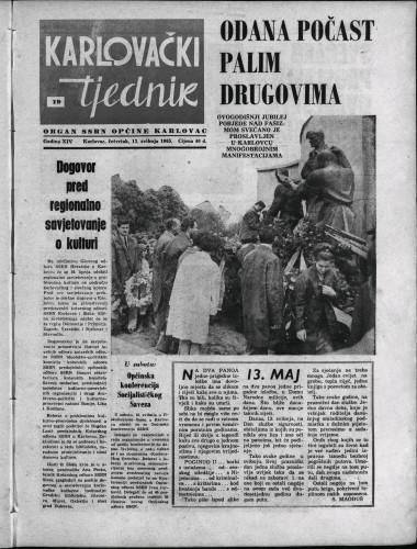 Karlovački tjednik: 1965 • 19