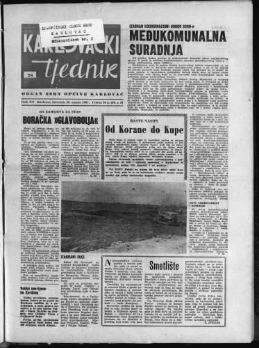 Karlovački tjednik: 1967 • 28