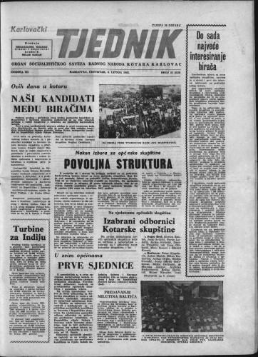 Karlovački tjednik: 1963 • 21