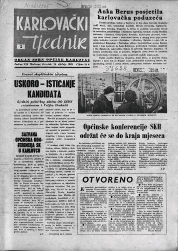 Karlovački tjednik: 1965 • 2