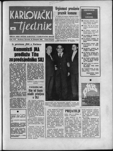 Karlovački tjednik: 1968 • 40