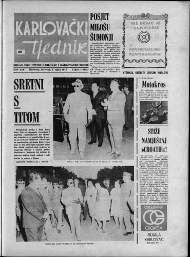 Karlovački tjednik: 1972 • 36