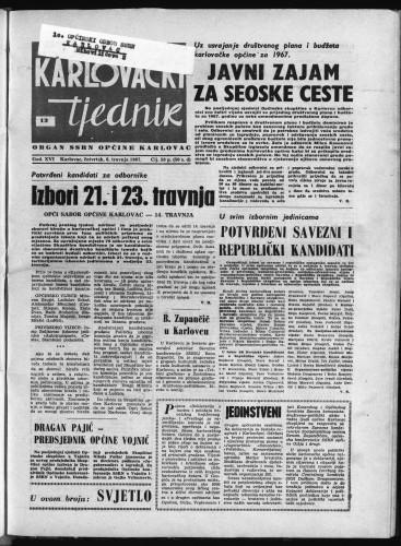 Karlovački tjednik: 1967 • 13
